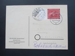 BRD 1956 Auslandspostkarte Nr. 227 EF Seitenrand. Bayreuth - Rohrbach Schweiz. SSt Heiden Luftkurort - BRD