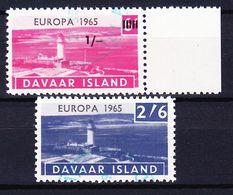 DAVAAR ISLAND (Emission Locale) - 1965 EUROPA SERIE (+ BLOC ET BLOC LUXE) Obl. LIGHTHOUSE / PHARE - Ortsausgaben