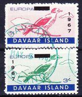 DAVAAR ISLAND (Emission Locale) - 1967 EUROPA SERIE (+ BLOC ET BLOC LUXE) Obl. BIRD / OISEAU - Local Issues