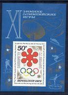 SOVIET UNION 1972 Winter Olympic Games Block MNH / **.  Michel Block 74 - 1923-1991 USSR