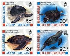 Ref. 72865 * MNH * - BRITISH INDIAN OCEAN TERRITORY. 1996. SEA TURTLES . TORTUGAS MARINAS - British Indian Ocean Territory (BIOT)