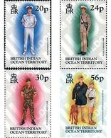 Ref. 51079 * MNH * - BRITISH INDIAN OCEAN TERRITORY. 1996. MILITARY UNIFORMS . UNIFORMES MILITARES - British Indian Ocean Territory (BIOT)