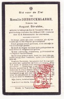 DP Rosalie DeBeuckelaere ° Ichtegem 1859 † 1927 X August Strubbe / Eernegem Bekegem - Devotion Images