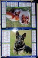 Calendrier/Almanach Du Facteur - Cher - 2011 - Chiens - Calendars