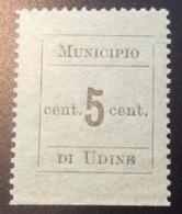 Italia Occupazione Austriaca 1918 Municipio Di Udine Sa. 1 (WW1 1914-18 War Local Post Italy Locaux Österreich Lokalpost - Udine