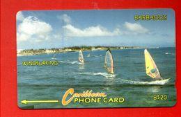 """BARBADOS: 1994 BAR-12B """"Windsurfing"""" B$ 20 CN: 12CBDB. Rare (20.000ex) Used - Barbados"""