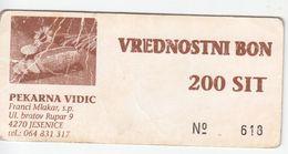 1995  SLOVENIJA  BON  200  TOLARJEV - Slovenia