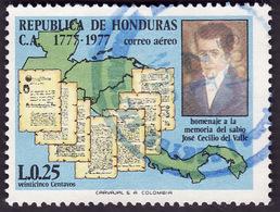 HONDURAS 1978 -  PA   585 - Memoire De Del Valle  - Oblitéré - Honduras