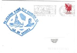 Pascua Ile De Pâques Rapa Nui 1993 - Escale Porte-hélicoptères Jeanne D'Arc - Poste Navale Navy - Chili Chile - Chile