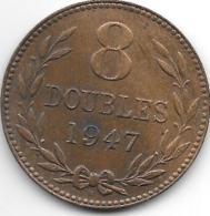 *Guernsey 8 Doubles 1947  Km 14  Xf - Guernsey