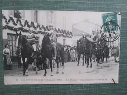 Cluny ;  Les Fetes De Cluny ; Les Herault D Armes Annoncant L Arrivee Du Roi ; Sept 1910 - Cluny