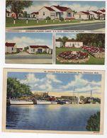 CHEBOYGAN, Michigan, USA, 2 Different Linen Postcards - Etats-Unis