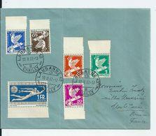 Lettre Suisse Avec Série Conférence Du Désarmement , Genève , 1932 - Lettres & Documents