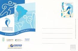 ARGENTINE. VIII JUEGOS DEPORTIVOS SUDAMERICANOS BUENOS AIRES 2006. ENTIER INTEROS.-TBE-BLEUP - Postal Stationery