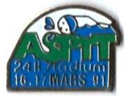 LP92 - LA POSTE - AS PTT - 24H STADIUM - 16.17 MARS 91 - Verso : STADIUM - Postes