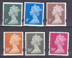 PGL BA1166 - GRANDE BRETAGNE Yv N°1961/66 ** MACHINS - 1952-.... (Elizabeth II)