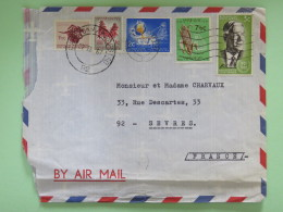 South Africa 1967 Cover To France - Buffalo Flowers Gold Melting Corn - Shipped From Ship M.S. Yalou - Afrique Du Sud (1961-...)