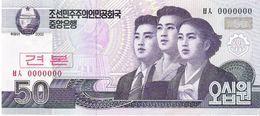 North Korea - Pick 60s - 50 Won 2002 - 2009 - Unc - Specimen - Corea Del Nord