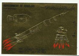 ESPACE - SHARJAH - Bloc OR **  (1969) Apollo 11, Lem Et Saturne 5 - Space