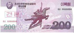 North Korea - Pick 62s - 200 Won 2002 - 2009 - Unc - Specimen - Corea Del Nord