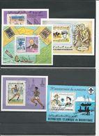 MAURITANIE Scott C176, C180, 419, 431, 499 Yvert BF16, BF17, BF24, BF25, BF34 (5 Blocs) O Cote 7,00 $ 1977-80 - Mauritanie (1960-...)