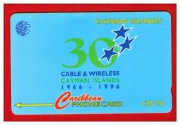 "CAYMAN ISL: 1996 CAY-94C ""30th Anniversary Of C& W"" CN:94CCIC Rare (10.000ex) - Cayman Islands"