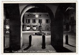 CHIARI - PIAZZA DELLE ERBE E FONTANA SETTECENTESCA - NOTTURNO - BRESCIA - 1954 - Brescia
