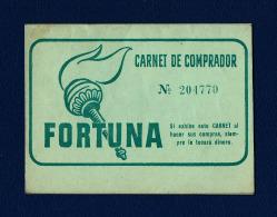 Antiguo Carnet De Comprador FORTUNA (Madrid) - Sin Clasificación