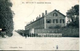 N°61124 -cpa Eu -quartier Morris- - Barracks