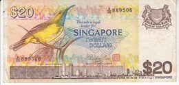 1999  SINGAPORE   TWENTY   DOLLARS - Singapore