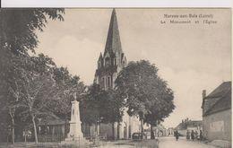 D45 - MAREAU AUX BOIS - LE MONUMENT ET L'EGLISE  - (VEHICULES ANCIENS) - France