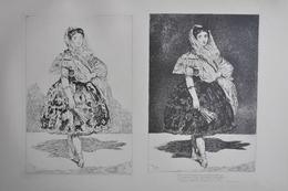 GRAVURES 1054-1055 / LE LISEUR - LOLA DE VALENCE Par EDOUARD MANET Né à PARIS En 1832 - Prints & Engravings