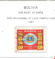 Bolivia PA 1967 50 Ann. Lions Int.. Scott.C273+See Scans On Scott.Page - Bolivia