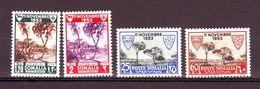 SOMALIA AFIS SOMALILAND 1954  ASSISTENZA LEBBROSI SOMALI   + AEREA Compl. 4 VAL MNH ** - Somalië (AFIS)