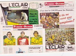 CARTE  De  Stade  De:    NANTES  SAISON 82-83  6ème Titres De Champion DeFRANCE   # REFERENCE . CPN26 N°. 01771 - Soccer