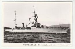 TOURVILLE CROISEUR  26-1-1931 - édit. Marius Bar - Phot. Toulon - Guerra