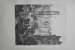 GRAVURE 1073 / DEMOLITIONS POUR LE PERCEMENT DU BOULEVARD ST GERMAIN Par FRANCOIS LALANNE Né à BORDEAUX En 1827 - Prints & Engravings