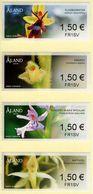 Aland - 2018 - Orchids - Mint ATM Stamp Set - Aland