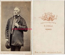 CDV V 1865--homme élégant-photographie H. Chala à Rennes - Old (before 1900)