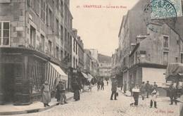 + CPA 50 Granville - La Rue Du Pont - Oblitération Gare De Folligny + - Granville