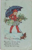 """Carolina """" Merry Christmas """" Ontario (Canada) -> Udine Viaggiata 1926 - Natale"""