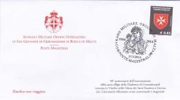 2014 - SMOM - Madonna Di Costantinopoli - Annullo Filatelico - Malte (Ordre De)