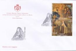 2015 - SMOM - 5° Centenario Della Nascita Di Santa Teresa D'Avila - FDC - Malta (Orden Von)