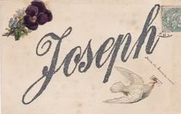 CARTE PRENOM JOSEPH / STRASS ET CHROMOS - Firstnames