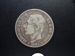 ESPAGNE : 2 PESETAS  1884 (18) (84)  MS - M   KM 678   TTB * - [ 1] …-1931 : Royaume