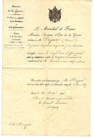 MINISTERE DE LA GUERRE LE MARECHAL DE FRANCE ORDONNE MR DUPORT Pierre POUR UN EMPLOI DE CAPITAINE COMMANDANT PARIS 1855 - Documents