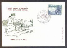 YUGOSLAVIA - CROATIA - TESLA  - YOUNG EXPLORERS MEETING - GOSPIC - 1976 - Elettricità