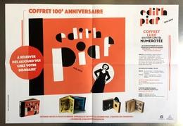 PLAN MEDIA BON DE PRECO AFFICHE PLIEE FORMAT 60X40 EDITH PIAF 1915/2015 TRES BON ETAT RARE - Plakate & Poster