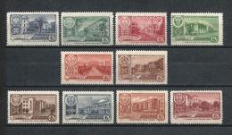 URSS571) 1960 - Capitali Delle Rep.che Autonome 1a Serie - 10 Val. MNH** E MLH* - Unused Stamps
