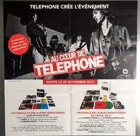 PLAN MEDIA BON DE PRECO AFFICHE PLIEE FORMAT 60X58 AU COEUR DE TELEPHONE  TRES BON ETAT RARE - Plakate & Poster